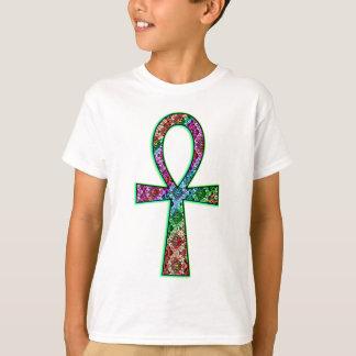 Camiseta Ankh psicadélico