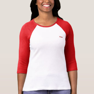 Camiseta Annie Bella+T-shirt do Raglan da luva das canvas