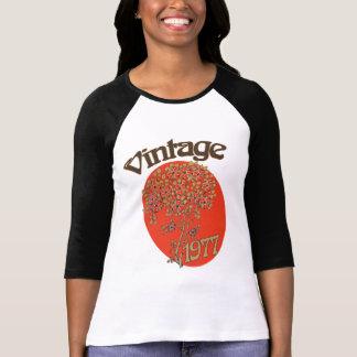Camiseta Ano 1977 do nascimento da menina do vintage para o