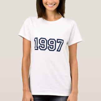 Camiseta ano 1997 do nascimento