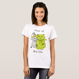 Camiseta Ano afortunado do gato do boi