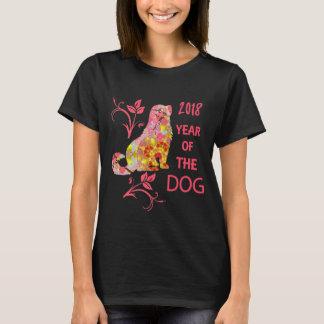 Camiseta Ano chinês do gráfico do zodíaco 2018 do cão