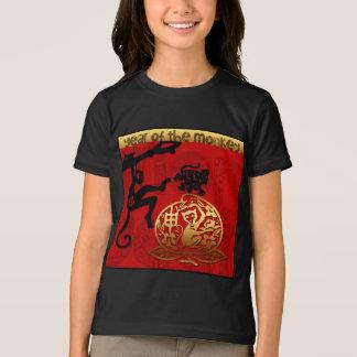 Camiseta Ano chinês do sinal do zodíaco do macaco