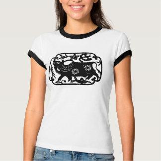Camiseta Ano chinês do T do boi