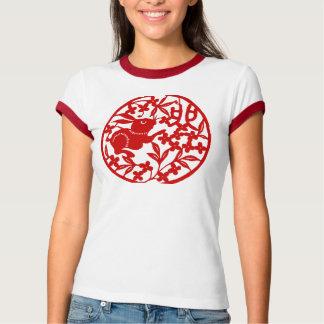 Camiseta Ano chinês do T do coelho