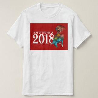 Camiseta Ano da exposição dobro do cão 2018