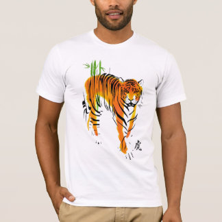 Camiseta Ano do t-shirt do tigre