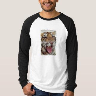 Camiseta Ano do t-shirt longo da luva dos homens do tigre