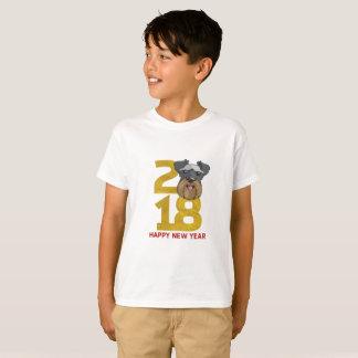 Camiseta Ano dos Schnauzers diminutos do ano novo do cão