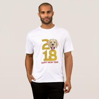 Camiseta Ano dourado de Labrador do ano novo do cão 2018
