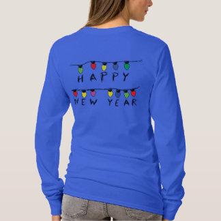 Camiseta Ano novo Natal-Feliz alegre