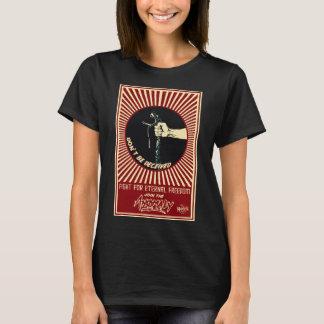 """Camiseta """"Anomalia"""" do t-shirt preto das senhoras da fonte"""