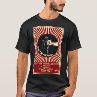 """Camiseta """"Anomalia"""" do t-shirt preto dos homens da fonte"""