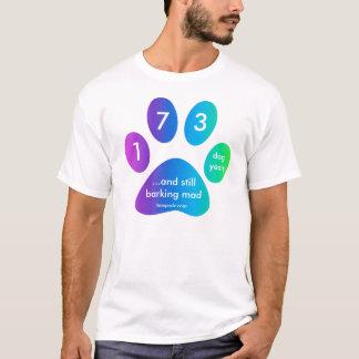 Camiseta anos do cão do arco-íris do timepodz - 173 (40