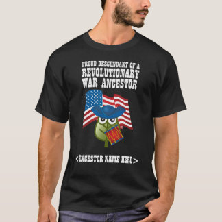 Camiseta Antepassado revolucionário da guerra