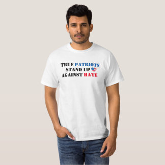 Camiseta Anti-Ódio verdadeiro dos patriotas