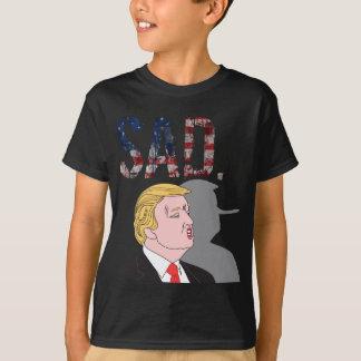 Camiseta Anti presidente triste sarcástico engraçado Donald
