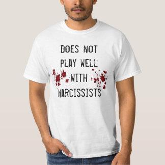 Camiseta Anti sentimento do narcisismo com splatters do