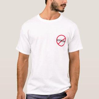 Camiseta Anti-Socialismo com das citações parte traseira