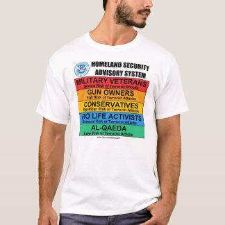 Camiseta Anti t-shirt da segurança interna