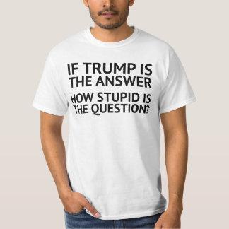Camiseta Anti trunfo. Como estúpida é a pergunta?