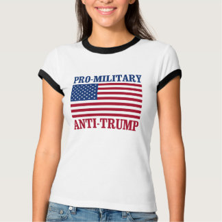 Camiseta Anti-Trunfo Pro-Militar - Anti-Trunfo -