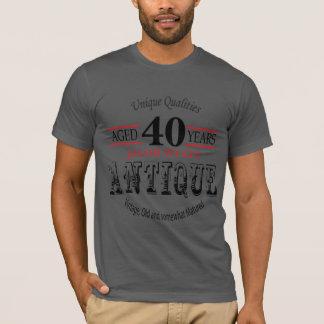 Camiseta Antiguidade envelhecida 40 anos de idade de   DIY