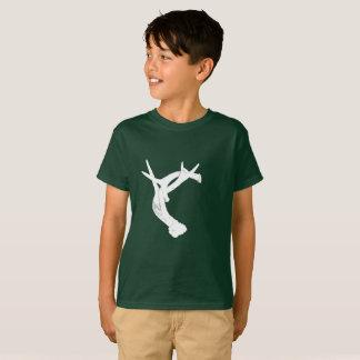 Camiseta Antlers. dos cervos