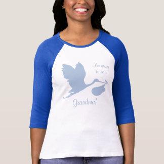 Camiseta Anúncio da gravidez para a avó
