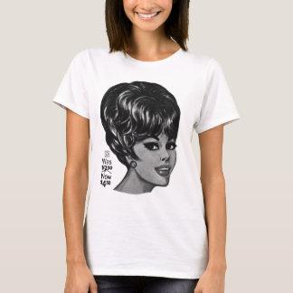 """Camiseta Anúncio da peruca do ser humano do vintage """"100%"""""""