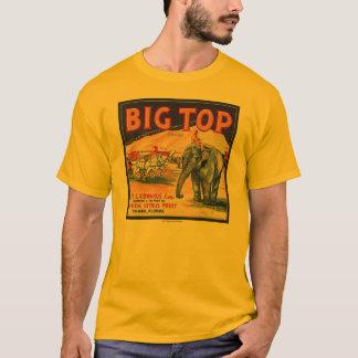 Camiseta Anúncio do citrino da tenda de circo do vintage