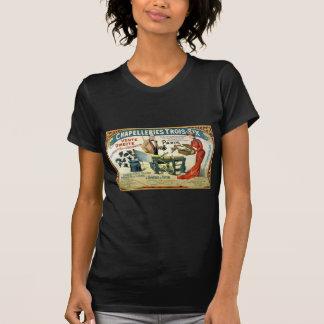 Camiseta Anúncio francês Chapelleries 1890 do vintage
