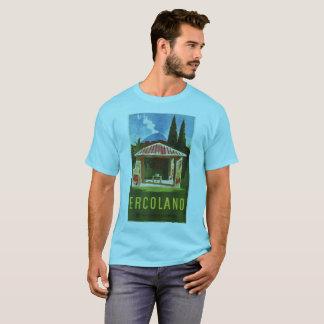 Camiseta Anúncio italiano do viagem do verão de Ercolano