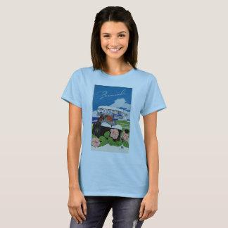 Camiseta Anúncio retro romântico das viagens vintage de