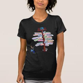 Camiseta Aonde ir? T-shirt dos sinais de estrada