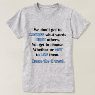 Camiseta Apague a palavra de R