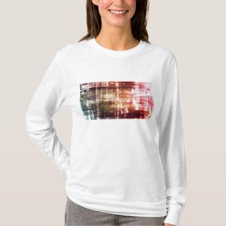 Camiseta Aparência de Digitas com arte de transferência da
