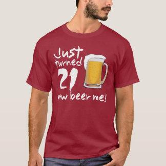 Camiseta Apenas AGORA cerveja 21 girada mim T do