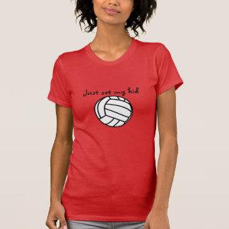 Camiseta Apenas ajuste meu t-shirt do voleibol do miúdo