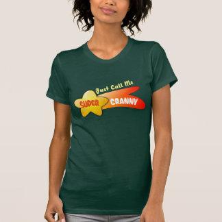 """Camiseta """"Apenas chame-me avó super"""" & estrela de tiro"""