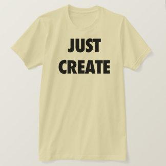 Camiseta Apenas criar (o amarelo)