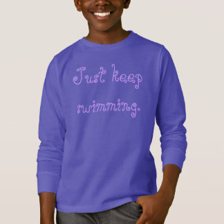 Camiseta Apenas mantenha nadar a camisola dos miúdos do