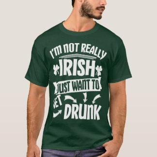 Camiseta Apenas queira obter o bebado