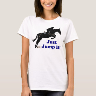 Camiseta Apenas salte-o equestre