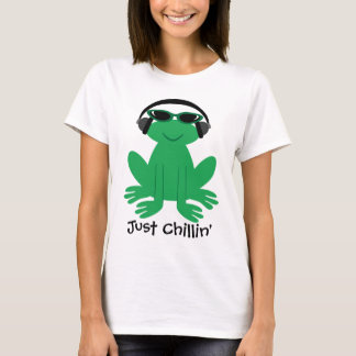 Camiseta Apenas sapo de Chillin com fones de ouvido &