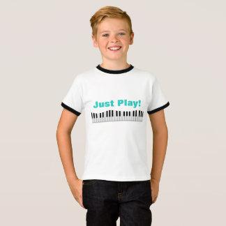 Camiseta Apenas t-shirt do piano do jogo
