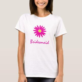 Camiseta Apenas um rosa da dama de honra da margarida