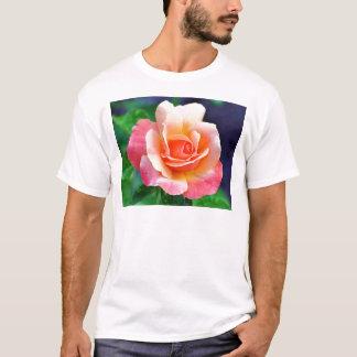 Camiseta Aperfeiçoe cor-de-rosa na flor