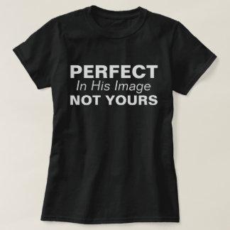 Camiseta Aperfeiçoe, em sua imagem, não seu