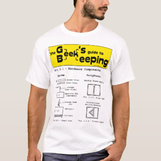 Camiseta Apicultura do geek (hardware) - t-shirt branco